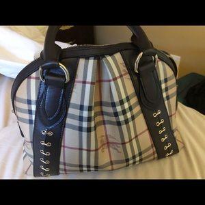 Authentic Burberry Handbag Leather